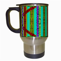 Gift Wrappers For Body And Soul In  A Rainbow Mind Travel Mugs (white) by pepitasart