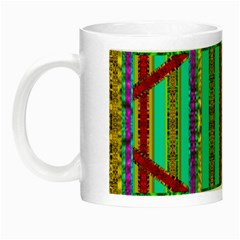 Gift Wrappers For Body And Soul In  A Rainbow Mind Night Luminous Mugs by pepitasart