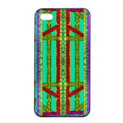 Gift Wrappers For Body And Soul In  A Rainbow Mind Apple Iphone 4/4s Seamless Case (black) by pepitasart