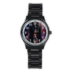 Picsart 12 24 09 38 41 Picsart 12 27 10 29 01 Stainless Steel Round Watch by A1me