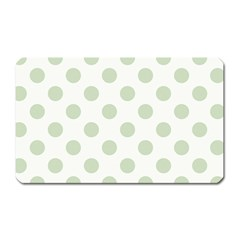 Green Dots Modern Pattern Paper Magnet (rectangular) by Celenk