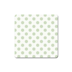 Green Dots Modern Pattern Paper Square Magnet