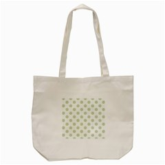 Green Dots Modern Pattern Paper Tote Bag (cream) by Celenk
