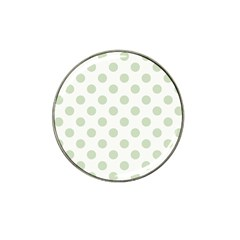 Green Dots Modern Pattern Paper Hat Clip Ball Marker (4 Pack)
