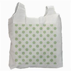 Green Dots Modern Pattern Paper Recycle Bag (one Side)