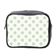 Green Dots Modern Pattern Paper Mini Toiletries Bag 2 Side by Celenk