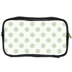 Green Dots Modern Pattern Paper Toiletries Bags 2 Side