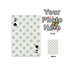 Green Dots Modern Pattern Paper Playing Cards 54 (mini)  by Celenk