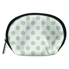 Green Dots Modern Pattern Paper Accessory Pouches (medium)  by Celenk