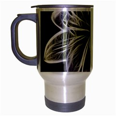 White Lily Flower Nature Beauty Travel Mug (silver Gray)