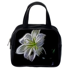 White Lily Flower Nature Beauty Classic Handbags (one Side) by Celenk