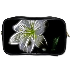 White Lily Flower Nature Beauty Toiletries Bags