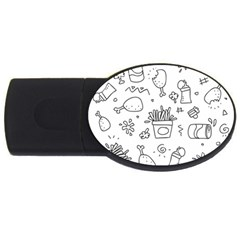 Set Chalk Out Scribble Collection Usb Flash Drive Oval (4 Gb) by Celenk