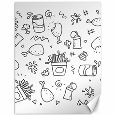 Set Chalk Out Scribble Collection Canvas 12  X 16