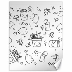 Set Chalk Out Scribble Collection Canvas 18  X 24   by Celenk
