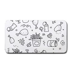 Set Chalk Out Scribble Collection Medium Bar Mats by Celenk