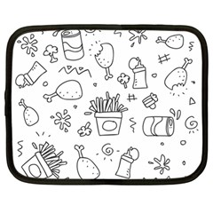 Set Chalk Out Scribble Collection Netbook Case (large) by Celenk