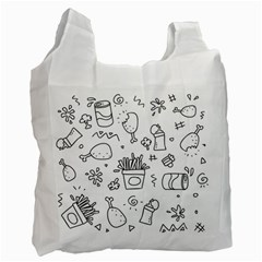 Set Chalk Out Scribble Collection Recycle Bag (one Side)