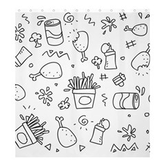 Set Chalk Out Scribble Collection Shower Curtain 66  X 72  (large)  by Celenk