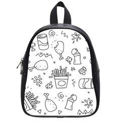 Set Chalk Out Scribble Collection School Bag (small)