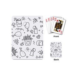 Set Chalk Out Scribble Collection Playing Cards (mini)  by Celenk