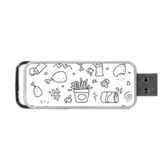 Set Chalk Out Scribble Collection Portable Usb Flash (two Sides) by Celenk