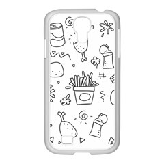 Set Chalk Out Scribble Collection Samsung Galaxy S4 I9500/ I9505 Case (white) by Celenk
