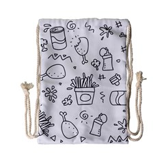 Set Chalk Out Scribble Collection Drawstring Bag (small) by Celenk
