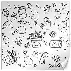Set Chalk Out Scribble Collection Canvas 12  X 12   by Celenk