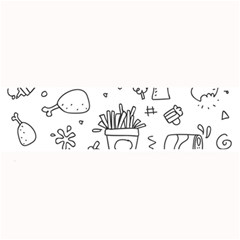 Set Chalk Out Scribble Collection Large Bar Mats by Celenk