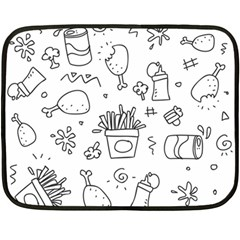 Set Chalk Out Scribble Collection Fleece Blanket (mini)