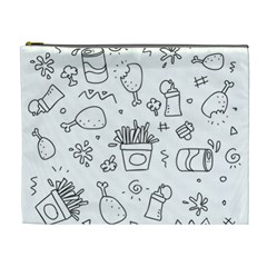 Set Chalk Out Scribble Collection Cosmetic Bag (xl) by Celenk