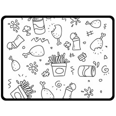 Set Chalk Out Scribble Collection Fleece Blanket (large)
