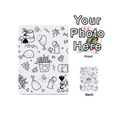 Set Chalk Out Scribble Collection Playing Cards 54 (mini)  by Celenk