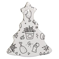 Set Chalk Out Scribble Collection Ornament (christmas Tree)  by Celenk