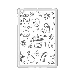 Set Chalk Out Scribble Collection Ipad Mini 2 Enamel Coated Cases by Celenk