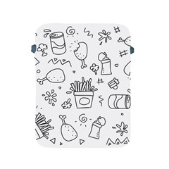 Set Chalk Out Scribble Collection Apple Ipad 2/3/4 Protective Soft Cases by Celenk