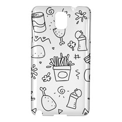 Set Chalk Out Scribble Collection Samsung Galaxy Note 3 N9005 Hardshell Case by Celenk