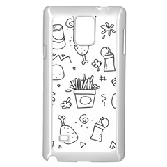 Set Chalk Out Scribble Collection Samsung Galaxy Note 4 Case (white) by Celenk