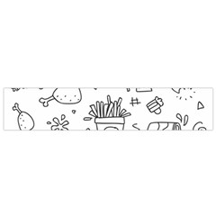 Set Chalk Out Scribble Collection Small Flano Scarf by Celenk