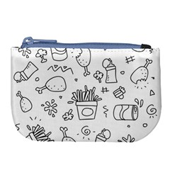 Set Chalk Out Scribble Collection Large Coin Purse by Celenk