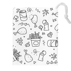 Set Chalk Out Scribble Collection Drawstring Pouches (xxl) by Celenk