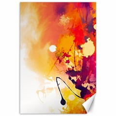 Paint Splash Paint Splatter Design Canvas 12  X 18   by Celenk