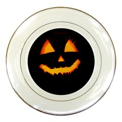 Pumpkin Helloween Face Autumn Porcelain Plates
