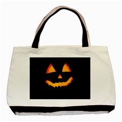 Pumpkin Helloween Face Autumn Basic Tote Bag (two Sides) by Celenk