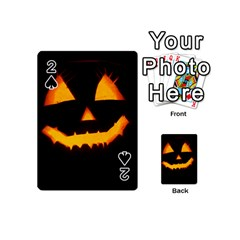 Pumpkin Helloween Face Autumn Playing Cards 54 (mini)  by Celenk