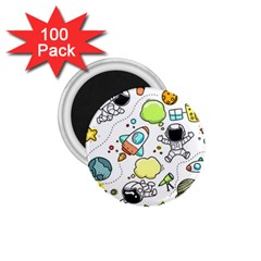Sketch Set Cute Collection Child 1 75  Magnets (100 Pack)  by Celenk