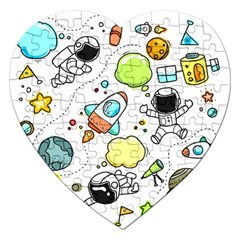 Sketch Set Cute Collection Child Jigsaw Puzzle (heart) by Celenk
