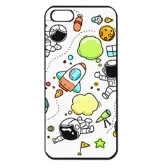 Sketch Set Cute Collection Child Apple Iphone 5 Seamless Case (black) by Celenk
