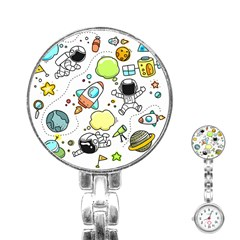 Sketch Set Cute Collection Child Stainless Steel Nurses Watch by Celenk